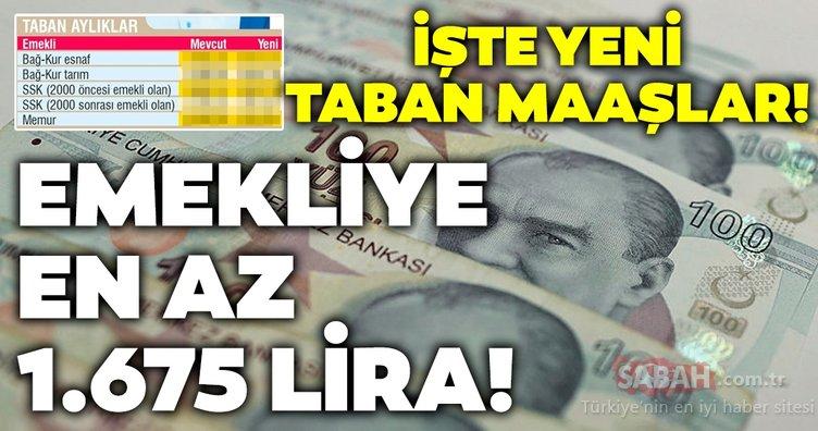 Emekli en az 1675 lira! İşte yeni emekli maaşları ve taban aylıklar!