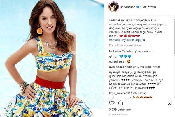 Ünlü isimlerin Instagram paylaşımları (08.03.2018)