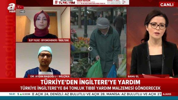 Türkiye'den İngiltere'ye 84 tonluk yardım