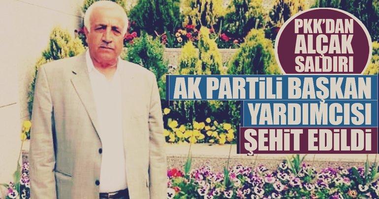 PKK'nın saldırısı sonucu AK Parti'li ilçe başkan yardımcısı hayatını kaybetti