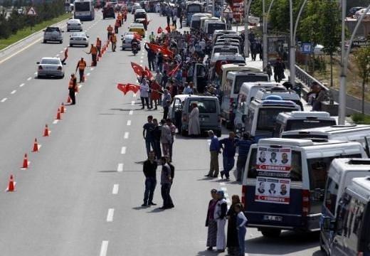 Başbakan'a Ankara'da coşkulu karşılama