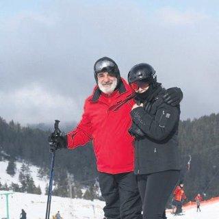Önce kayak sonra eğlence