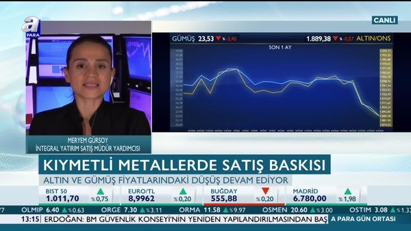 Meryem Gürsoy: Güçlü dolar altının geri çekilmesini destekliyor