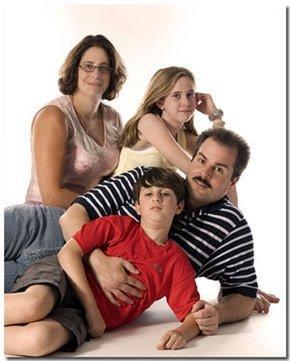 Garip aile fotoğrafları