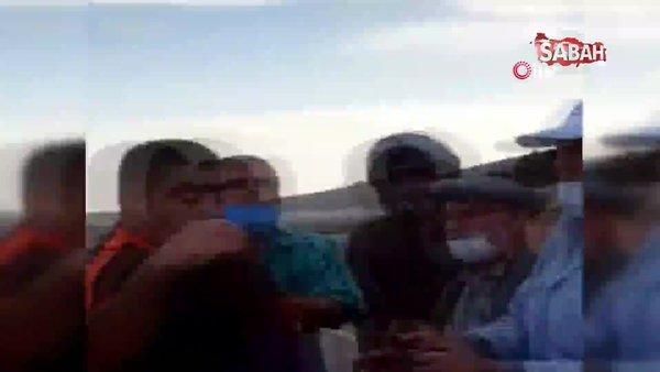 Babaları kavga etti, çocukları hem görüntüleyip hem sinir krizi geçirdi   Video