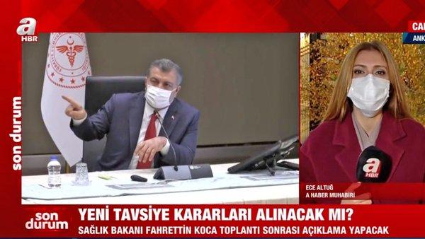 Son dakika! Yeni koronavirüs kısıtlamaları gelecek mi? Sağlık Bakanı Koca'nın kritik toplantı sonrası açıklama yapması bekleniyor | Video