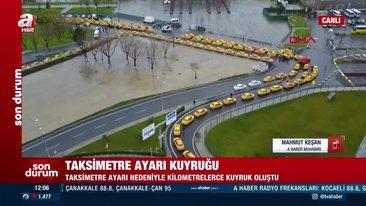 Yenikapı'ya taksici akını... Taksimetre güncelleme sırasındaki taksiler havadan görüntülendi | Video