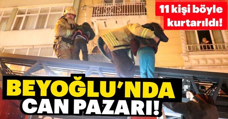 Beyoğlu'nda can pazarı... 11 kişi böyle kurtarıldı!