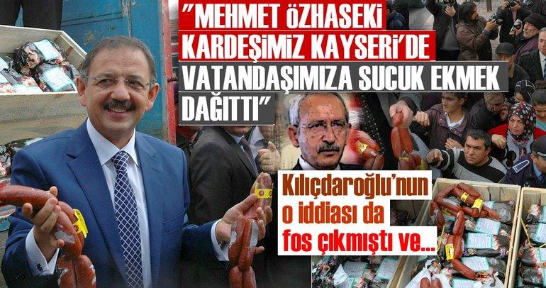 Cumhurbaşkanı Erdoğan: Mehmet Özhaseki kardeşimiz Kayseri'de vatandaşımıza sucuk ekmek dağıttı