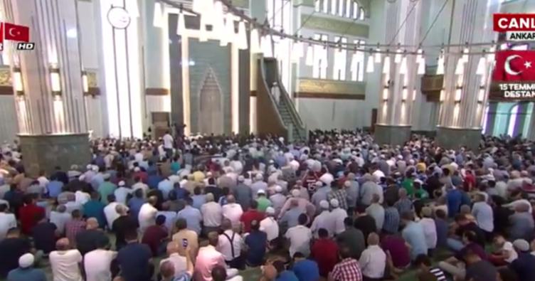 Beştepe Millet Camisinde 15 Temmuz hutbesi okundu