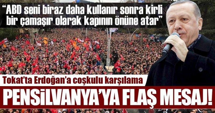 Cumhurbaşkanı Erdoğan'dan Pensilvanya'ya flaş mesaj!
