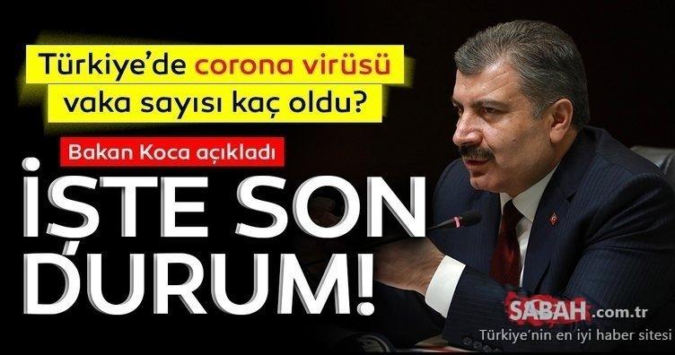 SON DAKİKA: Türkiye'de corona virüs vaka, ölü, iyileşen ve entübe hasta sayısı kaç oldu? Türkiye'de corona virüs koronavirüs son durum ve vaka dağılımı haritası