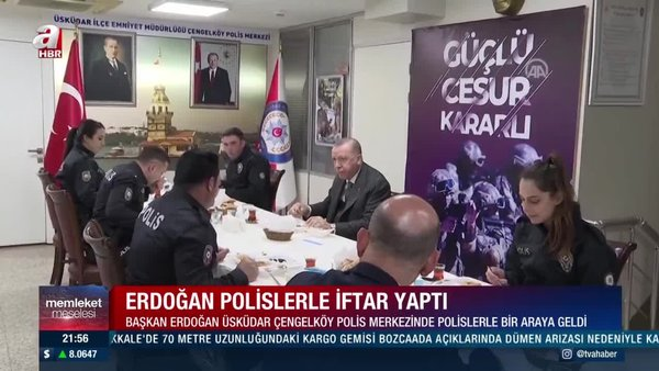 SON DAKİKA: Başkan Erdoğan, Çengelköy Polis Merkezi'nde iftar yaptı | Video