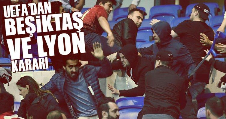 UEFA'dan Beşiktaş ve Lyon kararı