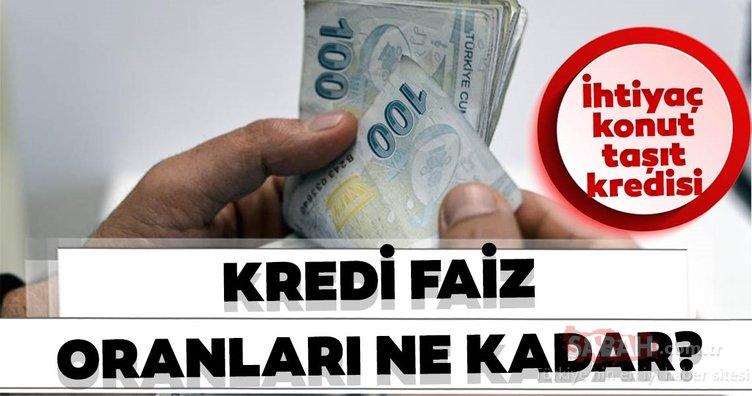Kredi faiz oranları ne kadar oldu? 2019 Güncel Halkbank, Akbank, Ziraat Bankası ihtiyaç – taşıt – konut kredisi faizleri ne kadar?