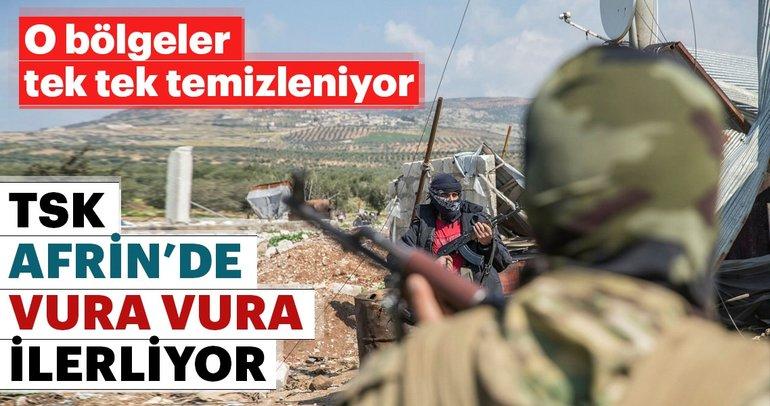Afrin'de son dakika! Afrin'de 4 köy daha teröristlerden temizlendi