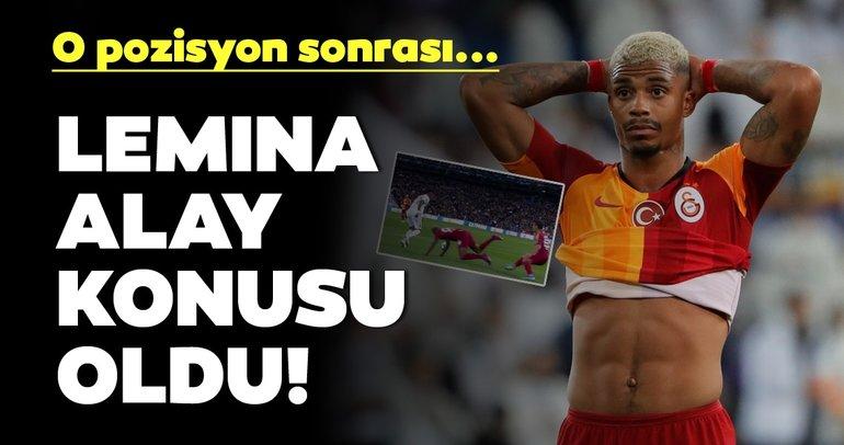 Lemina, Real Madrid - Galatasaray maçında alay konusu oldu