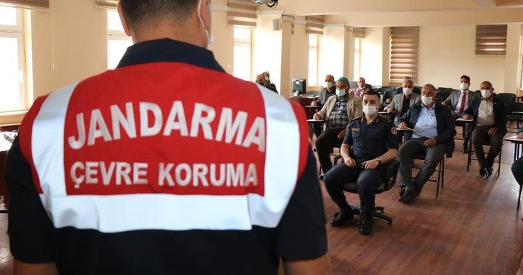 Jandarma'dan doğa, çevre ve hayvanların korunması eğitimi