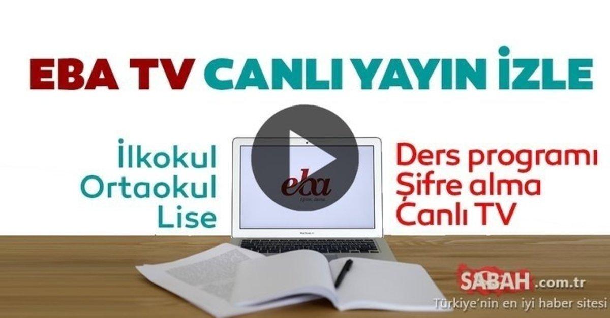 TRT EBA TV CANLI İZLE - 27 Nisan 2020 Pazartesi ilkokul, ortaokul ve lise  dersleri EBA TV canlı yayın izle ekranı - Frekans ayarı ve öğrenci girişi -  Eğitim Haberleri