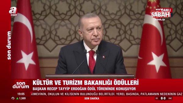 SON DAKİKA HABERİ: Başkan Erdoğan'dan Kültür ve Turizm Bakanlığı ödül töreninde açıklamalar | Video