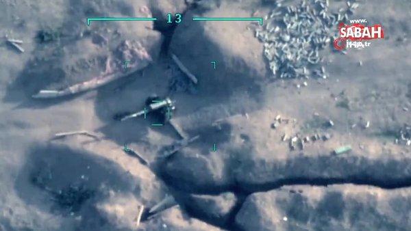Azerbaycan'ın Ermeni ordusuna bağlı topçu bataryalarını vurma anı kamerada | Video