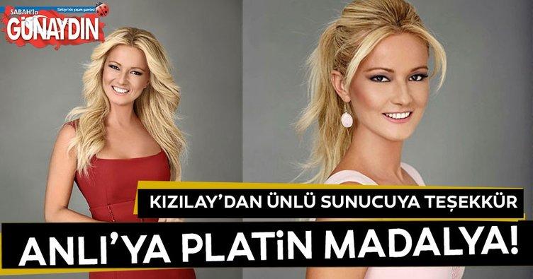 Türk Kızılayı Müge Anlı'ya madalya taktı