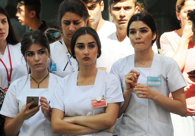 Bitlis şehidine hastanede böyle veda ettiler