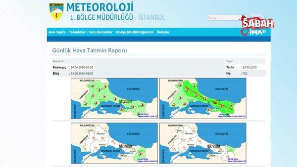 Son dakika: Meteoroloji'den kuvvetli yağış uyarısı! (24 Haziran 2020 Çarşamba)  İstanbul'da yağış ne zaman başlayacak? | Video