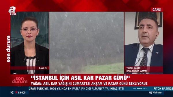 Son dakika haberi | İstanbul'da kar yağışı başladı! Asıl kar yağışı için tarih verildi! | Video