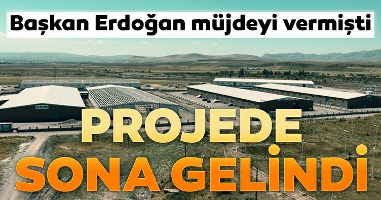 Başkan Erdoğan müjdeyi vermişti... Projede sona gelindi