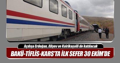 BTK demir yolunun açılışındaki ilk sefere liderler de katılacak