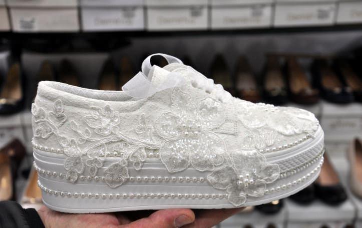 Gelin ayakkabısında son trend