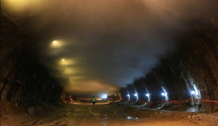 Türkiye'nin en uzun tünelinde ışık göründü