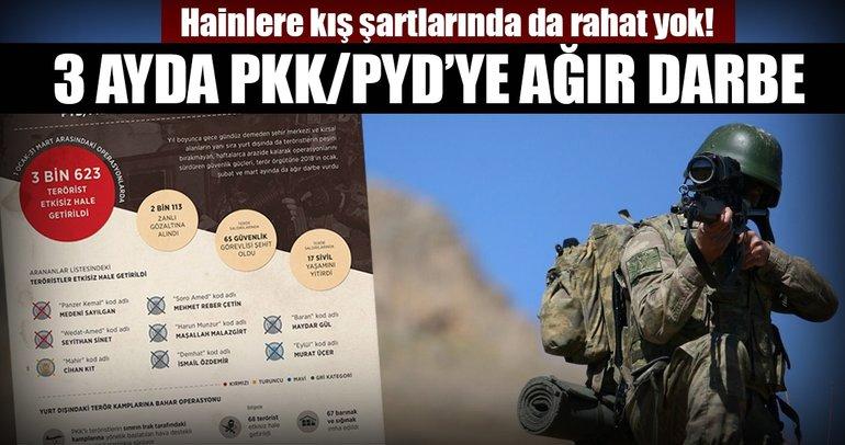 PYD/PKK'ya kış ve baharda ağır darbe