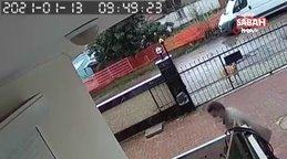 Antalya'dabalkondan masa çalan hırsıza köpek bile bakakaldı!  O anlar kamerada... | Video