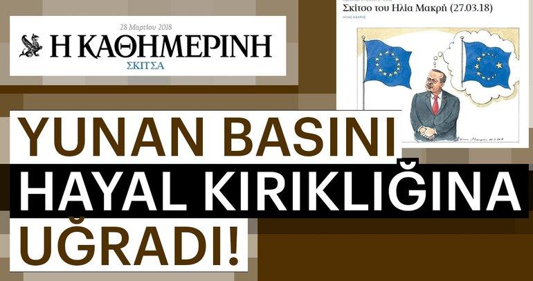 AB Zirvesi sonrası Yunan basını çizdi
