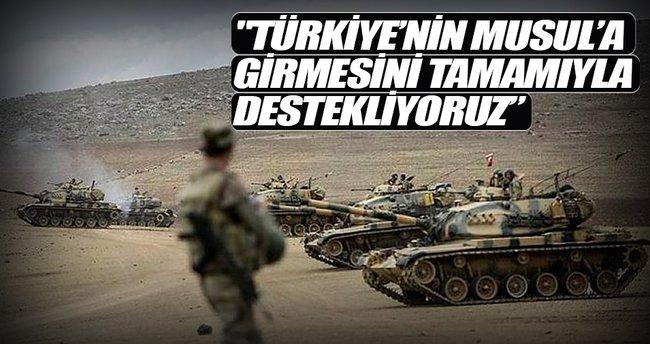 Türkiye'nin Musul'a girmesini tamamen destekliyoruz