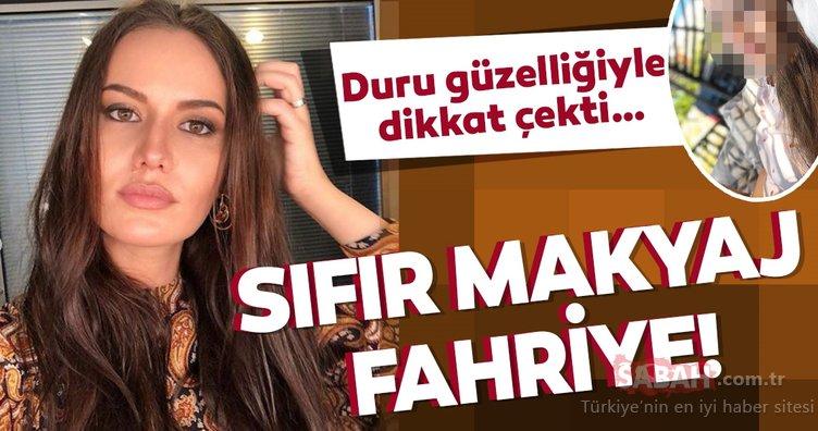 İşte sıfır makyaj Fahriye Evcen… Sosyal medyada herkes onu konuşuyor!