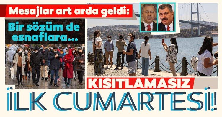 Son dakika haberi: İstanbul Valisi Ali Yerlikaya ve Sağlık Bakanı Fahrettin Koca'dan art arda 'Kısıtlamasız Cumartesi' mesajı