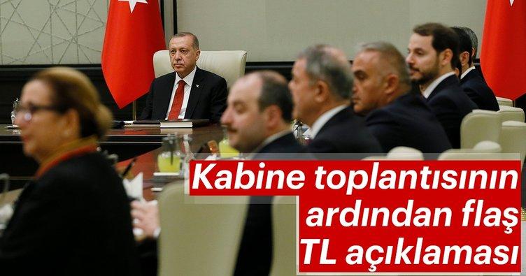 Kabine toplantısı sonrası flaş açıklamalar