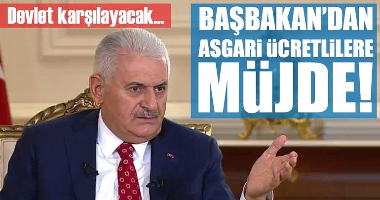 Başbakan Yıldırım'dan asgari ücret müjdesi!