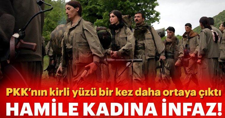 PKK'nın acımasız ve kirli yüzü bir kez daha ortaya çıktı! Hamile kadına infaz...