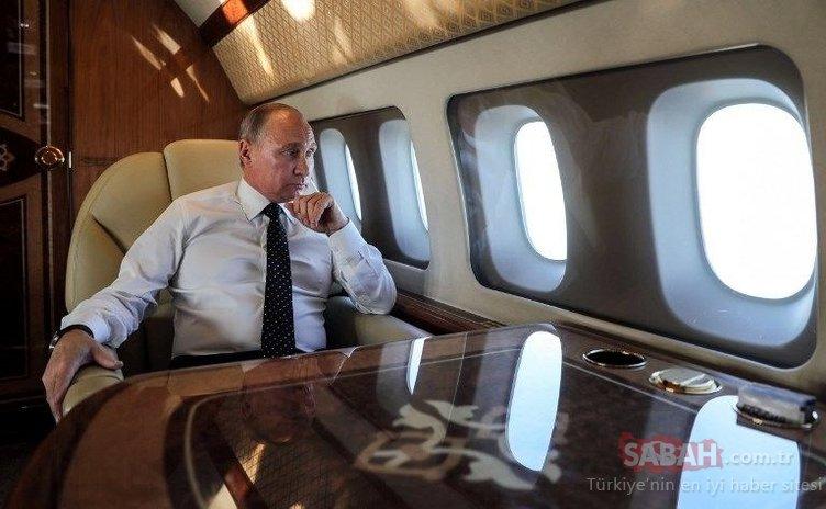 Uçan Kremlin'in içi görüntülendi! Putin'in altın tuvaletli lüks uçağı