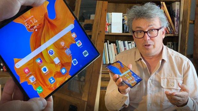 İşte katlanabilir ekranlı Huawei Mate Xs... Tablet mi Akıllı Telefon mu?  | Video