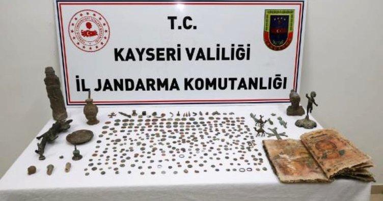 Jandarmadan Kayseri'de tarihi eser operasyonu
