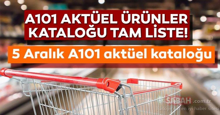 A101 aktüel ürünler kataloğu yayınlandı! 5 Aralık Perşembe A101 aktüel kataloğunda hangi indirimli ürünler var?