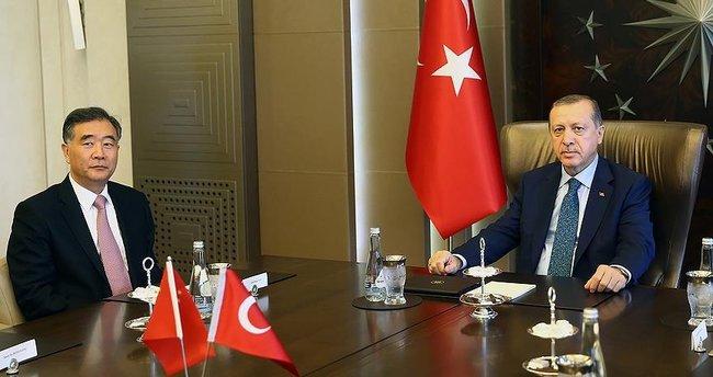 Erdoğan, Çin Devlet Konseyi Başbakan Yardımcısı Yang'ı kabul etti