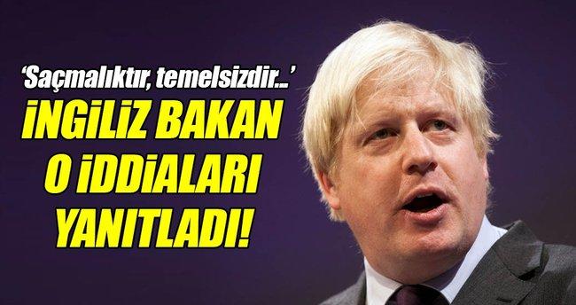 İngiliz Bakan'dan o iddialara yanıt!