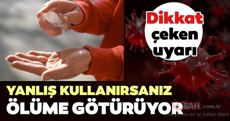 Koronavirüse karşı dezenfektanı asla bu şekilde kullanmayın!