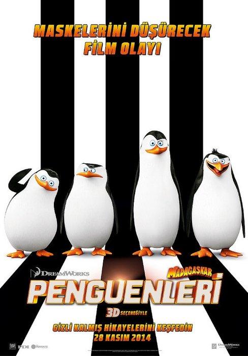 Madagaskar Penguenleri filminden kareler